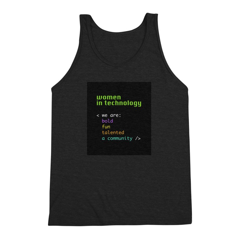 Women in Technology - We are a community Men's Triblend Tank by Women in Technology Online Store