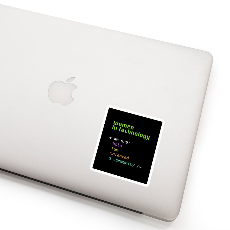 Women in Technology - We are a community Accessories Sticker by Women in Technology Online Store