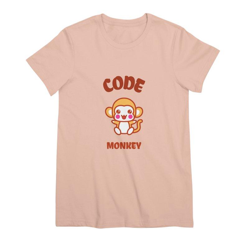 Code Monkey Women's Premium T-Shirt by Women in Technology Online Store