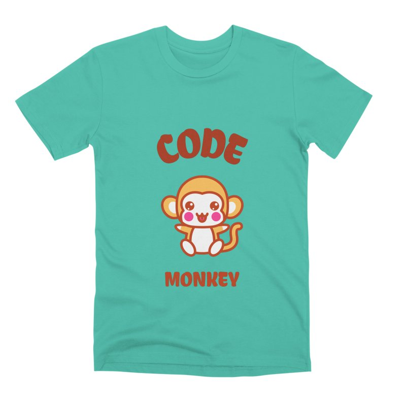 Code Monkey Men's Premium T-Shirt by Women in Technology Online Store