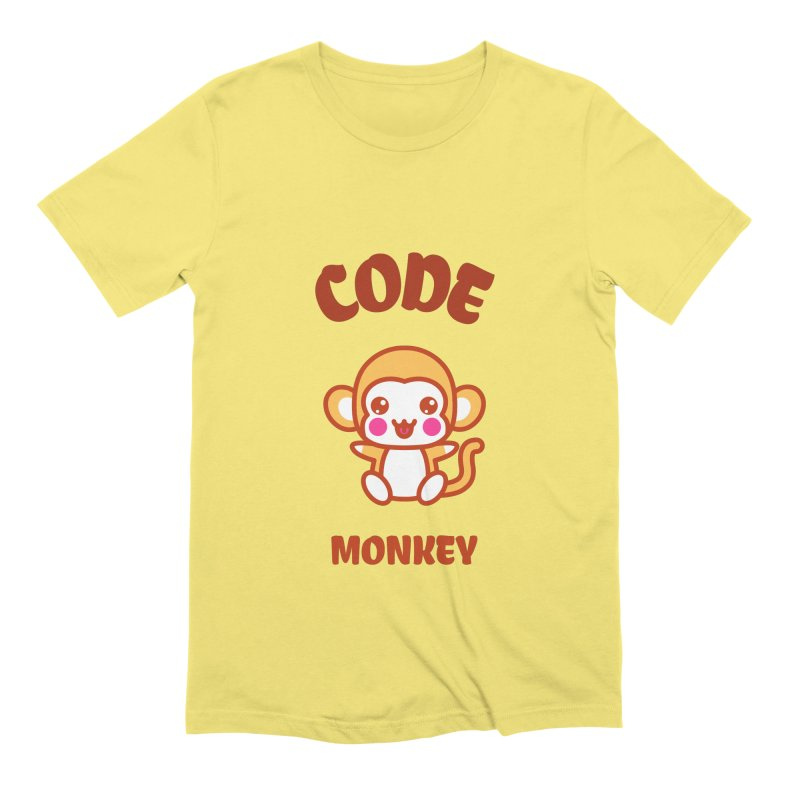 Code Monkey Men's Extra Soft T-Shirt by Women in Technology Online Store