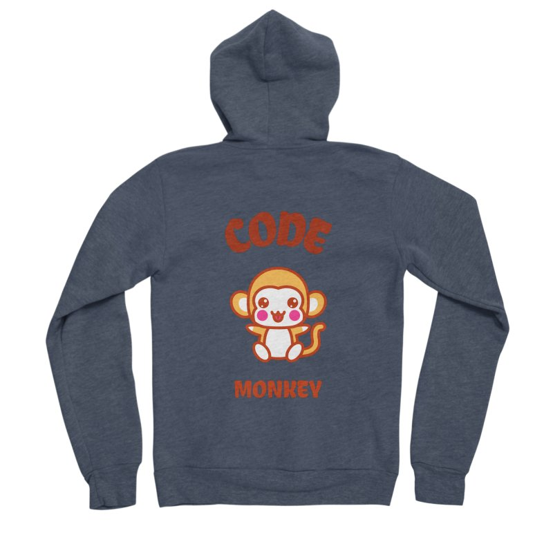 Code Monkey Men's Sponge Fleece Zip-Up Hoody by Women in Technology Online Store