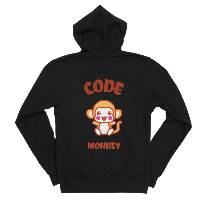 Code Monkey Women's Sponge Fleece Zip-Up Hoody by Women in Technology Online Store