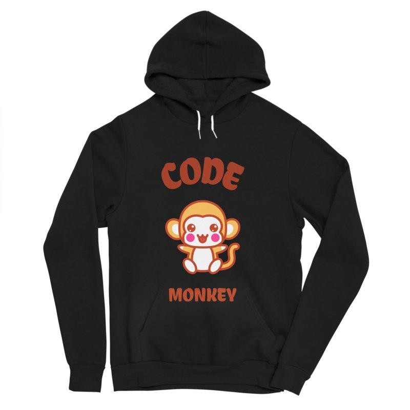 Code Monkey Men's Sponge Fleece Pullover Hoody by Women in Technology Online Store