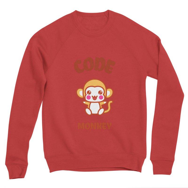 Code Monkey Men's Sponge Fleece Sweatshirt by Women in Technology Online Store