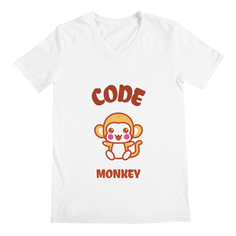 Code Monkey Men's V-Neck by Women in Technology Online Store
