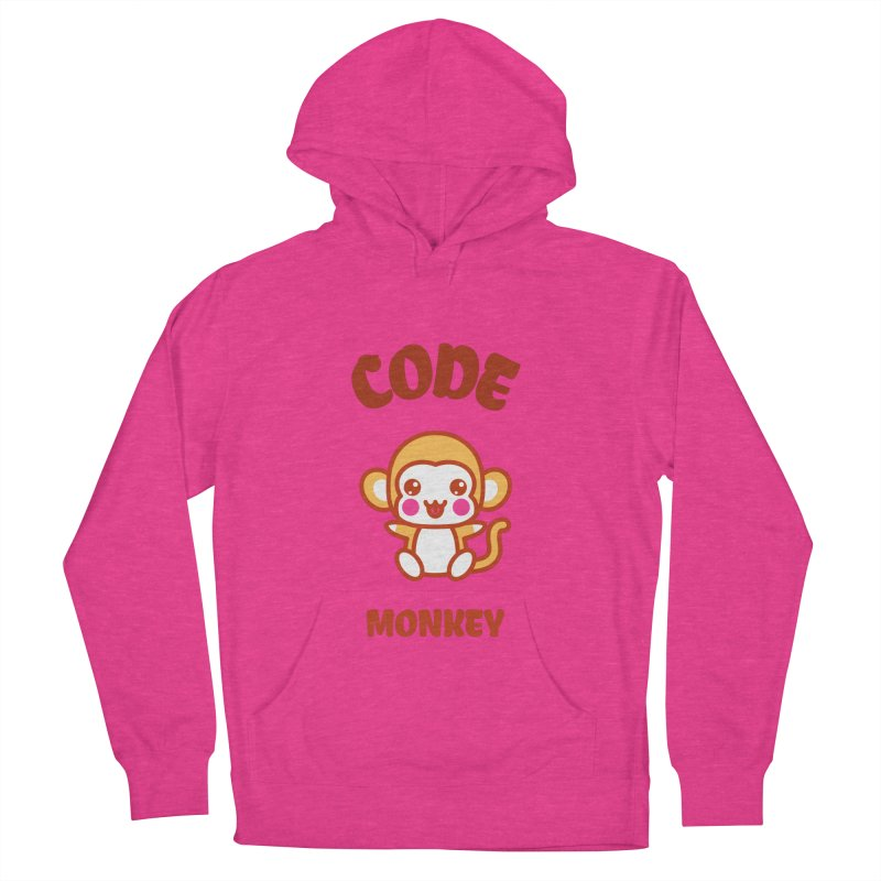Code Monkey Women's French Terry Pullover Hoody by Women in Technology Online Store