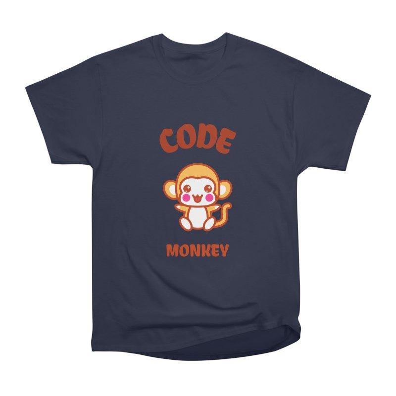 Code Monkey Women's Heavyweight Unisex T-Shirt by Women in Technology Online Store