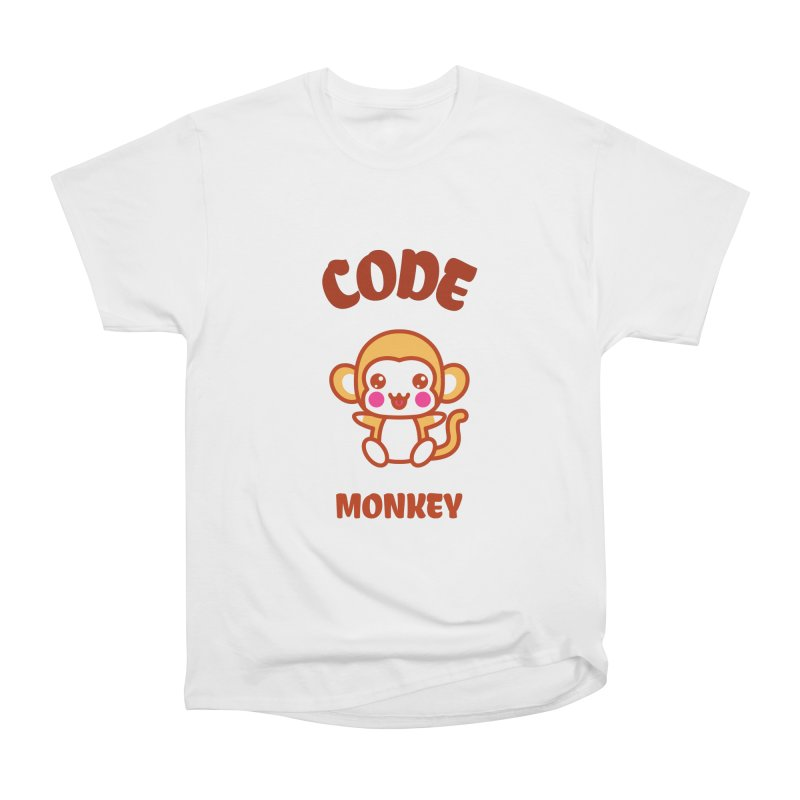 Code Monkey Men's Heavyweight T-Shirt by Women in Technology Online Store