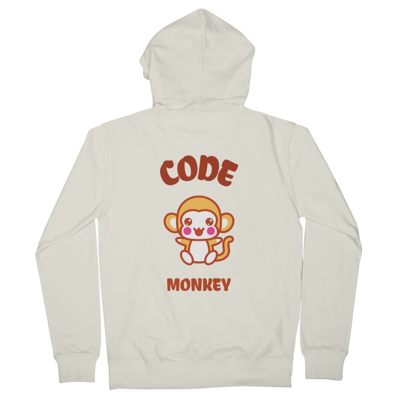Code Monkey Men's French Terry Zip-Up Hoody by Women in Technology Online Store