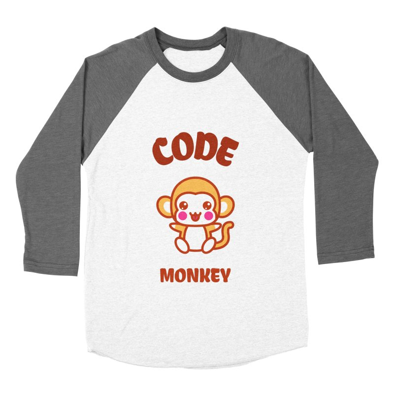 Code Monkey Women's Baseball Triblend Longsleeve T-Shirt by Women in Technology Online Store