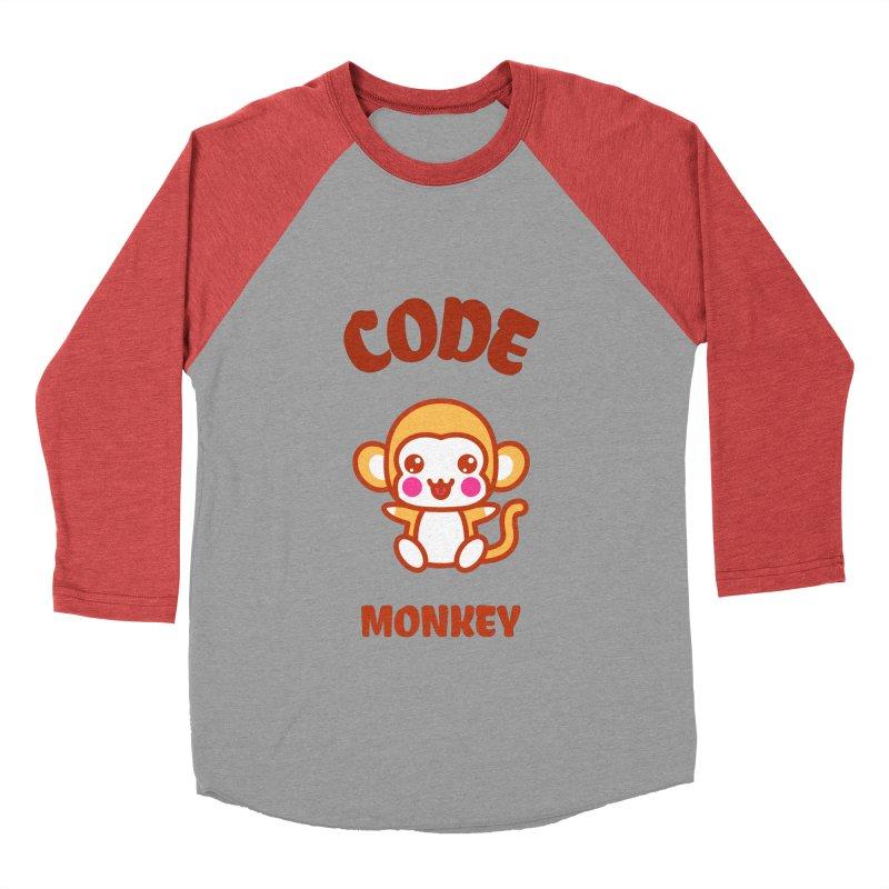 Code Monkey Women's Baseball Triblend Longsleeve T-Shirt by Women in Technology Online Store