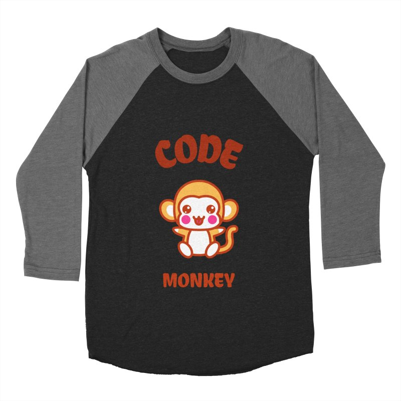 Code Monkey Men's Baseball Triblend Longsleeve T-Shirt by Women in Technology Online Store