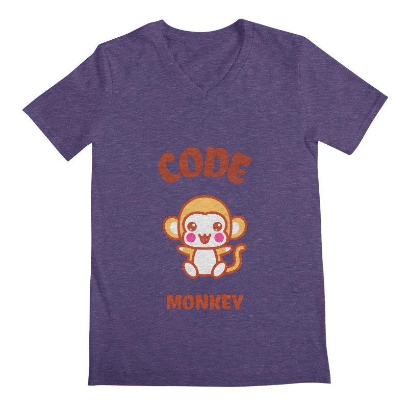 Code Monkey Men's Regular V-Neck by Women in Technology Online Store
