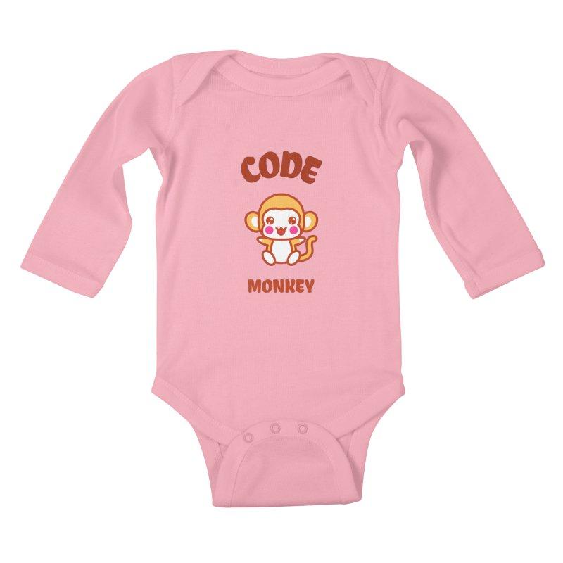 Code Monkey Kids Baby Longsleeve Bodysuit by Women in Technology Online Store