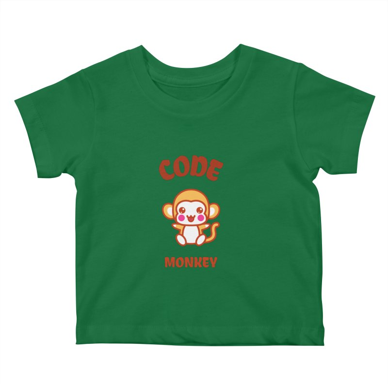 Code Monkey Kids Baby T-Shirt by Women in Technology Online Store