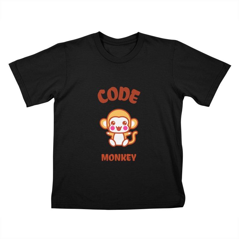Code Monkey Kids T-Shirt by Women in Technology Online Store