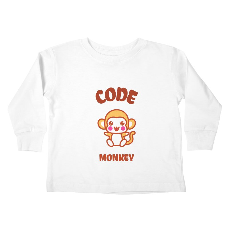 Code Monkey Kids Toddler Longsleeve T-Shirt by Women in Technology Online Store