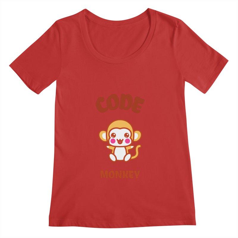 Code Monkey Women's Regular Scoop Neck by Women in Technology Online Store