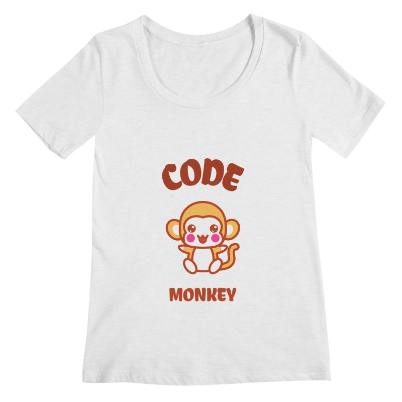 Code Monkey Women's Regular Scoop Neck by Women in Technology Online Store