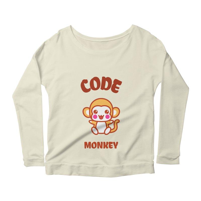 Code Monkey Women's Scoop Neck Longsleeve T-Shirt by Women in Technology Online Store