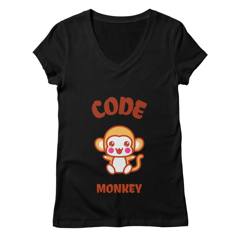 Code Monkey Women's V-Neck by Women in Technology Online Store