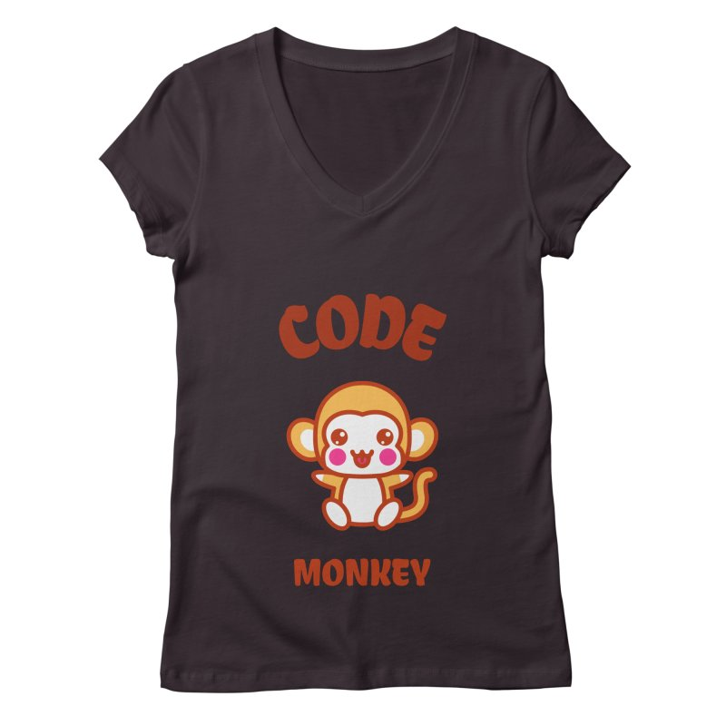 Code Monkey Women's V-Neck by Women in Technology Online Store