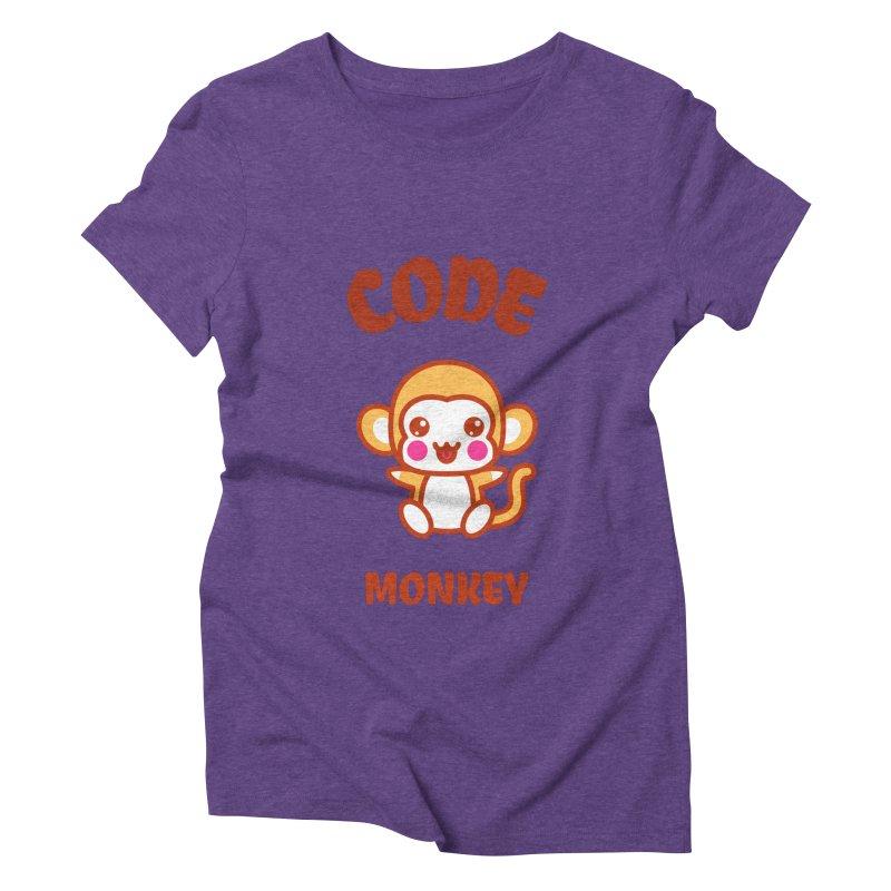Code Monkey Women's Triblend T-Shirt by Women in Technology Online Store