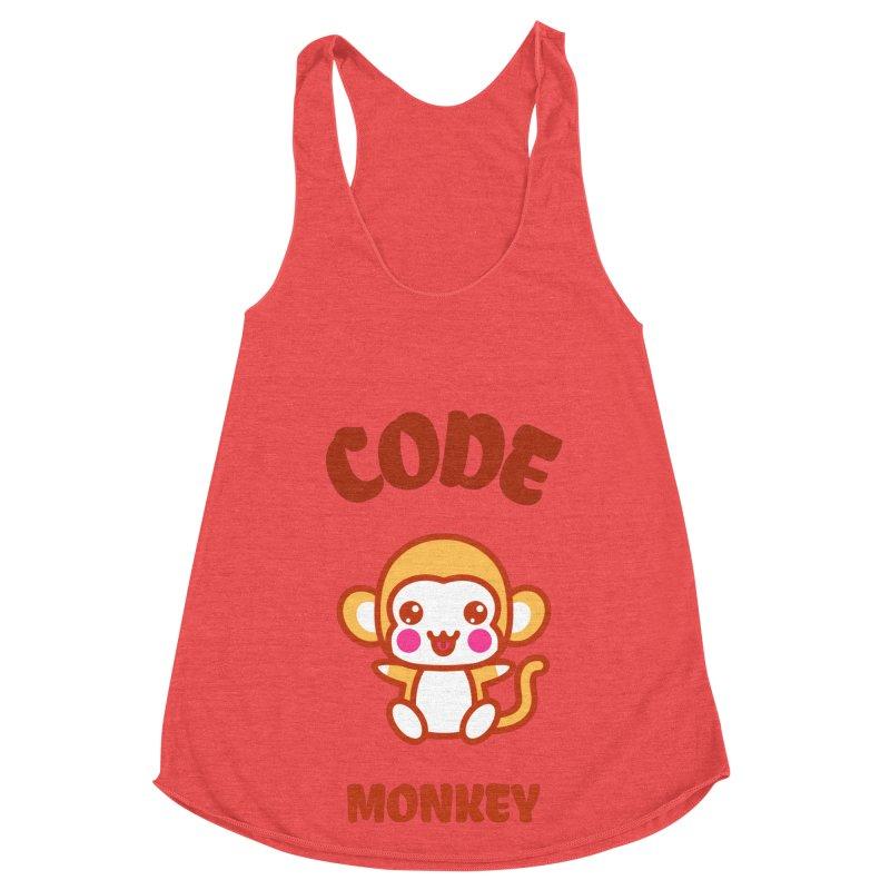 Code Monkey Women's Racerback Triblend Tank by Women in Technology Online Store