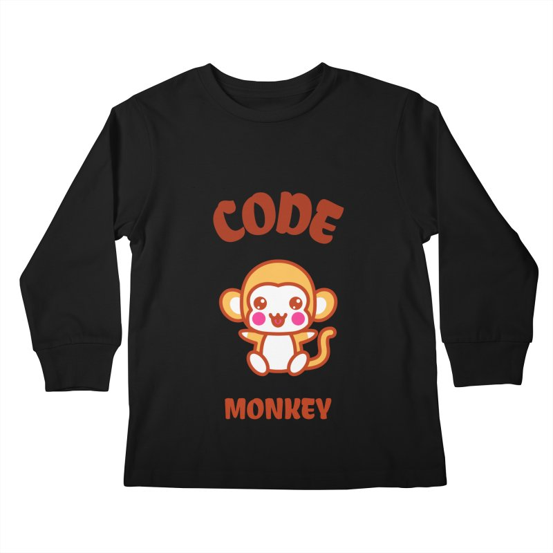 Code Monkey Kids Longsleeve T-Shirt by Women in Technology Online Store