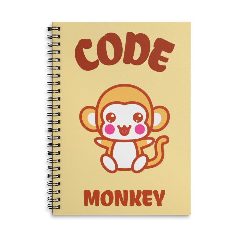 Code Monkey Accessories Lined Spiral Notebook by Women in Technology Online Store