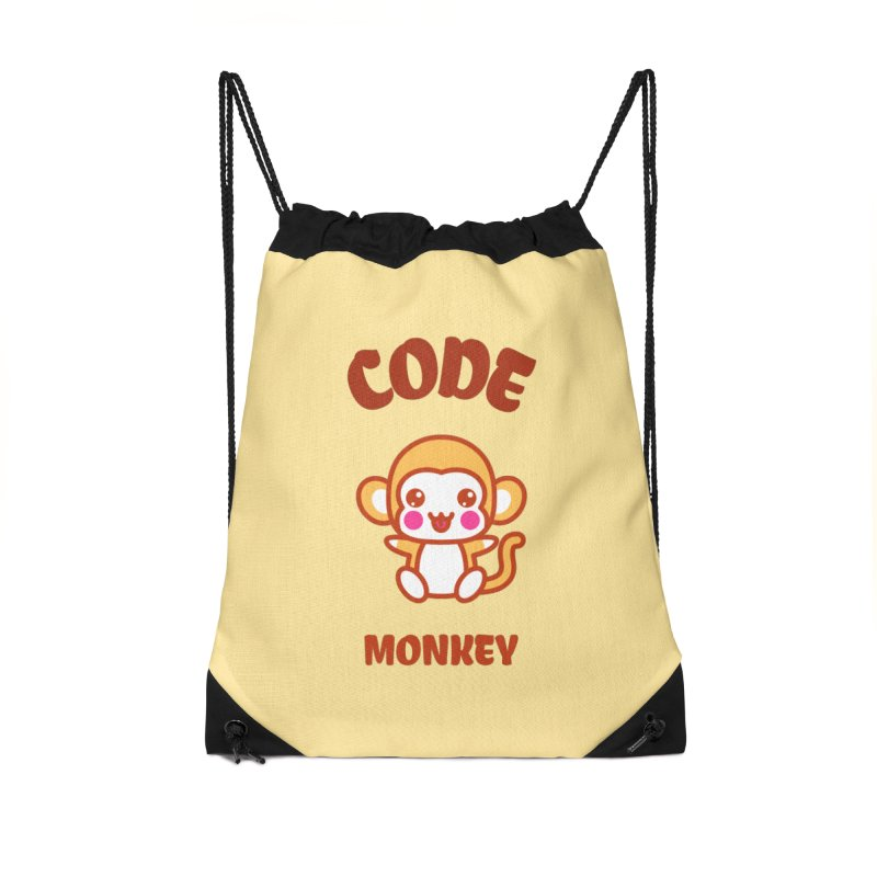 Code Monkey Accessories Drawstring Bag Bag by Women in Technology Online Store