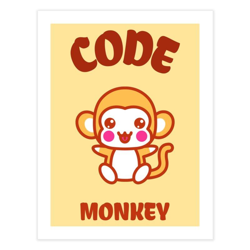 Code Monkey Home Fine Art Print by Women in Technology Online Store