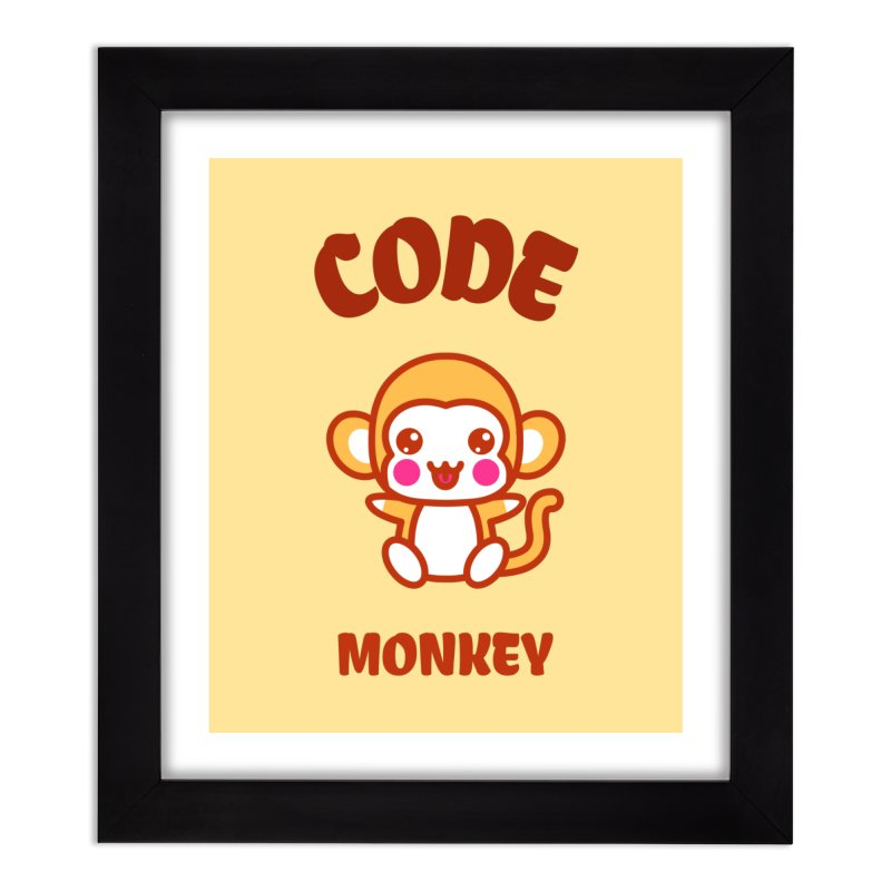 Code Monkey Home Framed Fine Art Print by Women in Technology Online Store