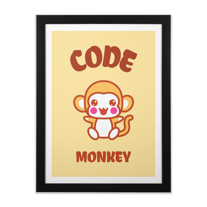 Code Monkey Home Framed Fine Art Print by Women in Technology Online Store