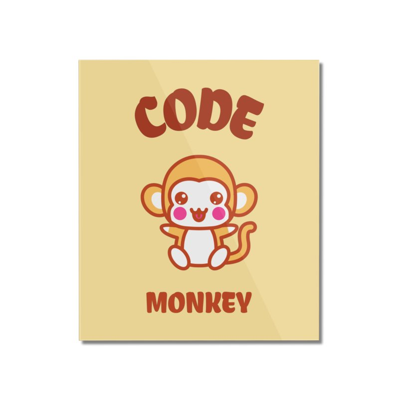 Code Monkey Home Mounted Acrylic Print by Women in Technology Online Store
