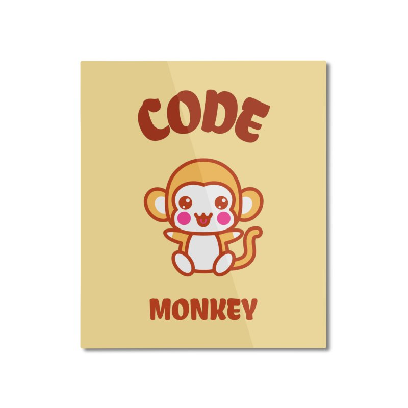 Code Monkey Home Mounted Aluminum Print by Women in Technology Online Store