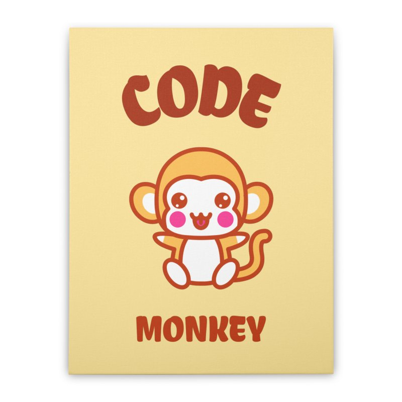 Code Monkey Home Stretched Canvas by Women in Technology Online Store