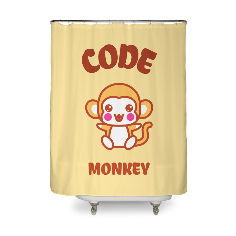 Code Monkey Home Shower Curtain by Women in Technology Online Store