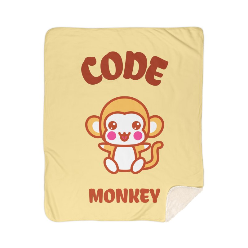 Code Monkey Home Sherpa Blanket Blanket by Women in Technology Online Store