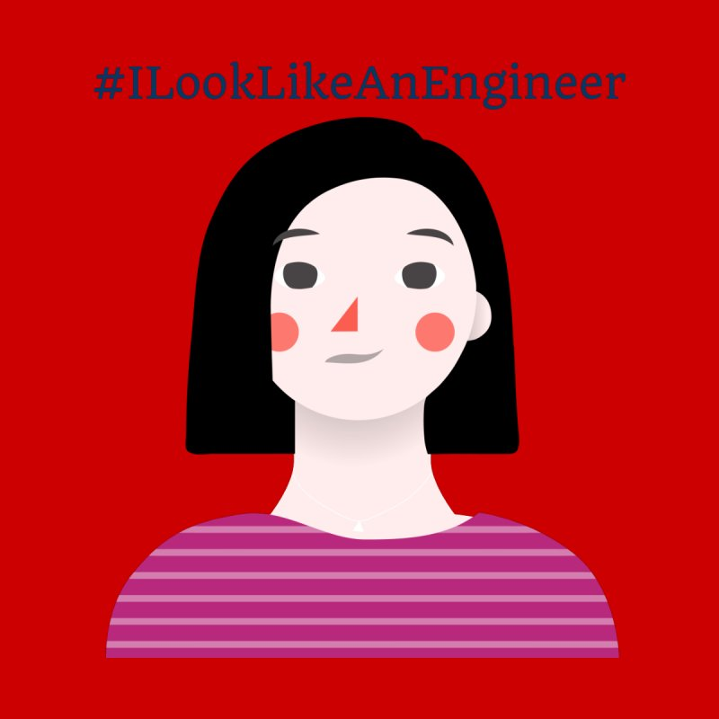 #ILookLikeAnEngineer with a female avatar Women's Scoop Neck by Women in Technology Online Store