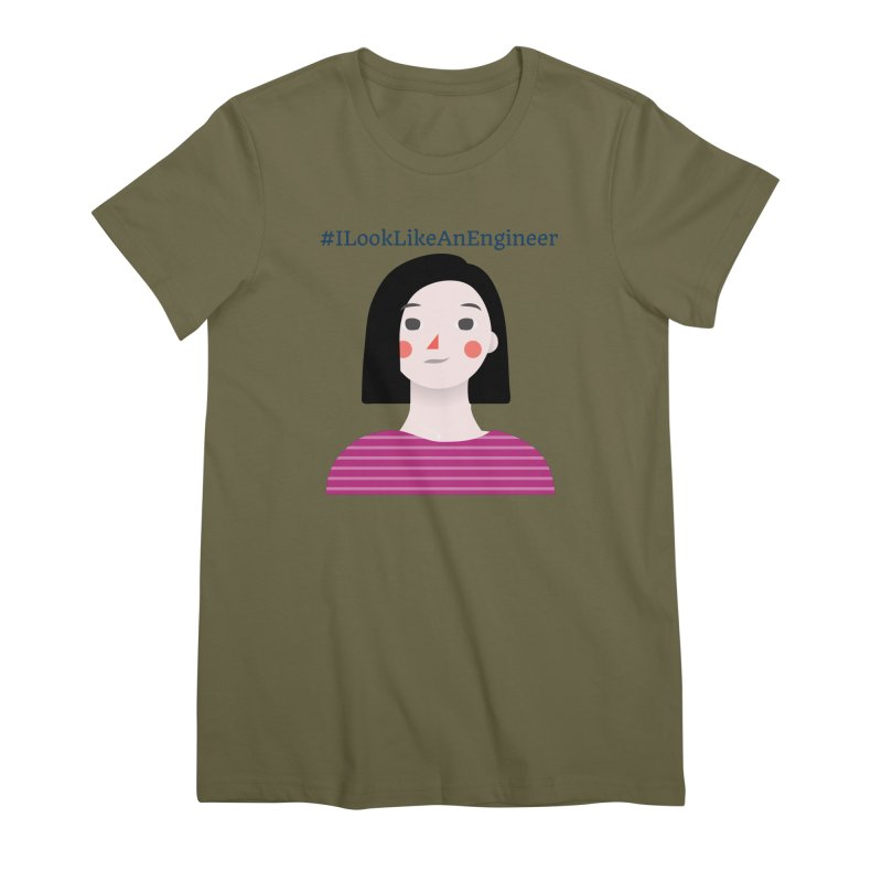 #ILookLikeAnEngineer with a female avatar Women's Premium T-Shirt by Women in Technology Online Store