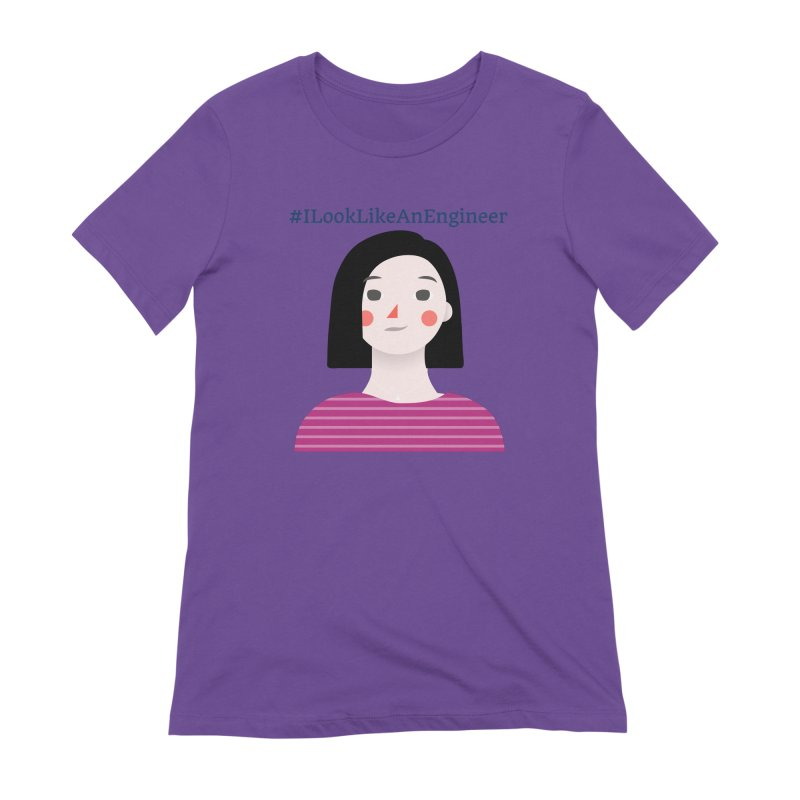 #ILookLikeAnEngineer with a female avatar Women's Extra Soft T-Shirt by Women in Technology Online Store