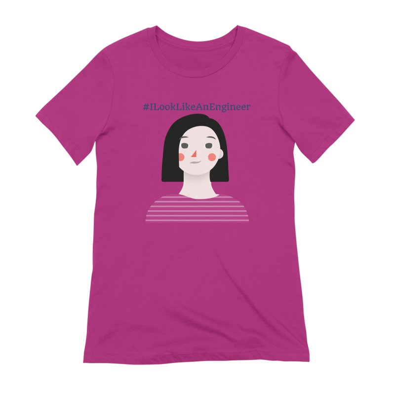 #ILookLikeAnEngineer with a female avatar Women's T-Shirt by Women in Technology Online Store