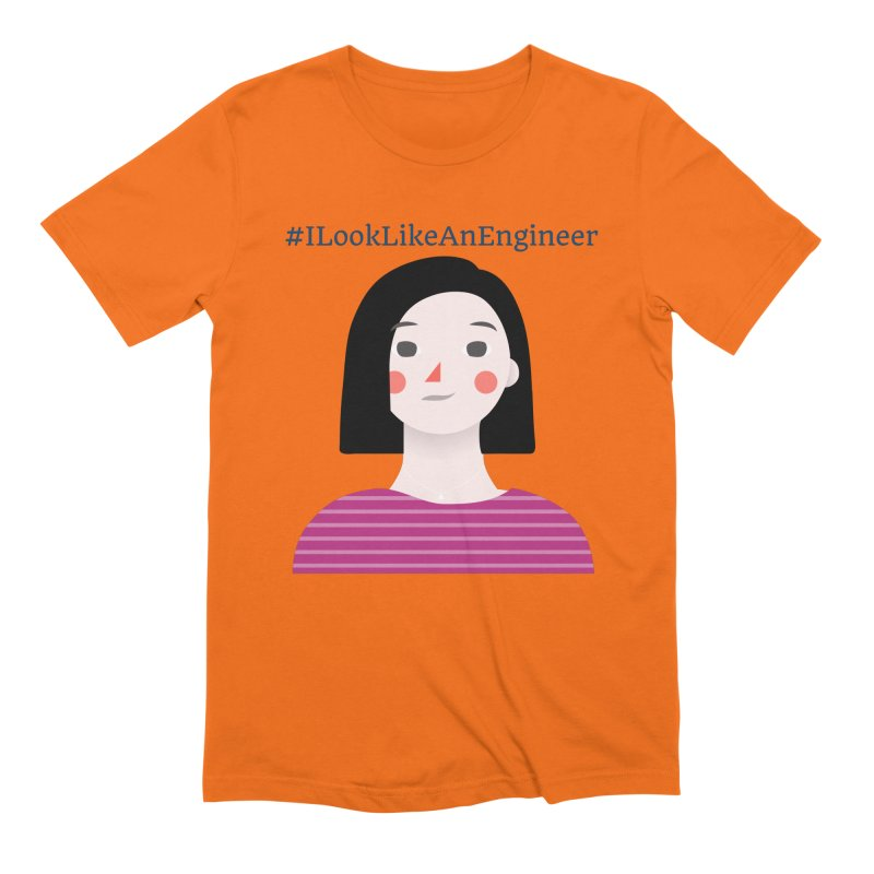 #ILookLikeAnEngineer with a female avatar Men's T-Shirt by Women in Technology Online Store