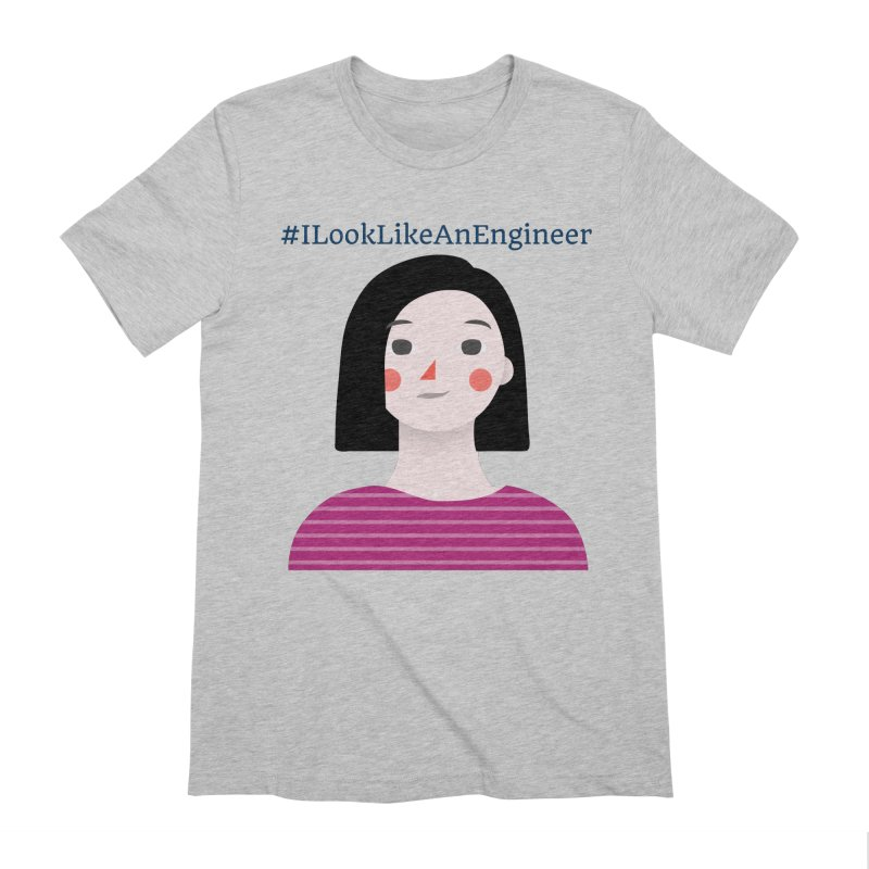 #ILookLikeAnEngineer with a female avatar Men's Extra Soft T-Shirt by Women in Technology Online Store