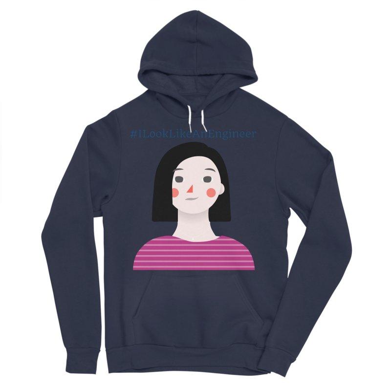 #ILookLikeAnEngineer with a female avatar Women's Sponge Fleece Pullover Hoody by Women in Technology Online Store