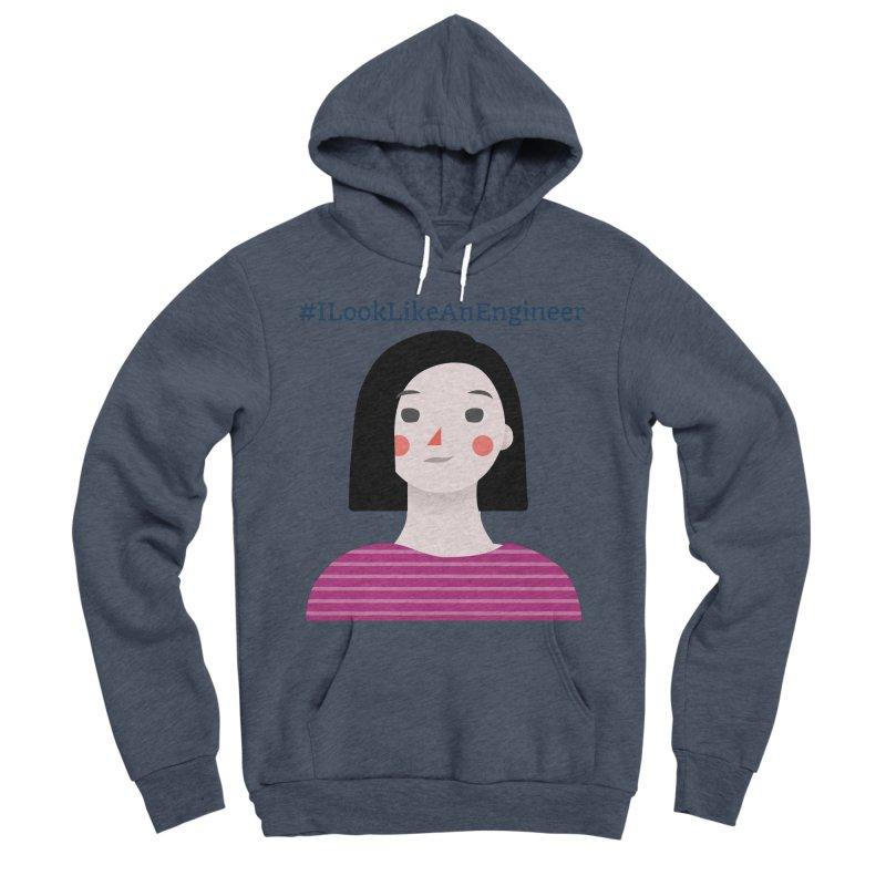#ILookLikeAnEngineer with a female avatar Men's Sponge Fleece Pullover Hoody by Women in Technology Online Store