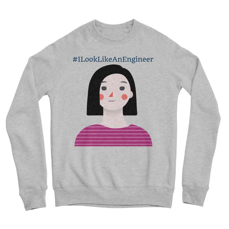 #ILookLikeAnEngineer with a female avatar Men's Sponge Fleece Sweatshirt by Women in Technology Online Store