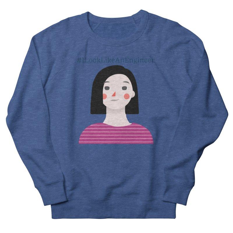#ILookLikeAnEngineer with a female avatar Men's Sweatshirt by Women in Technology Online Store